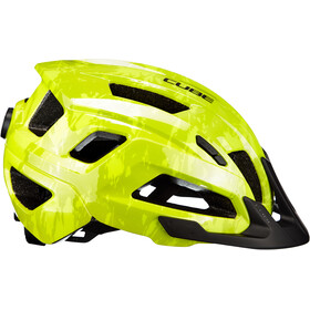 Cube Steep Fietshelm, glossy citrone